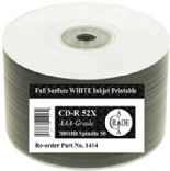 600 Ritek OEM Full Face White Printable Blank CD-R CD 52x Discs 700MB 80min